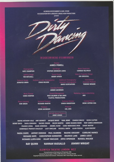 Theatre Dirty Dancing 2010-2011