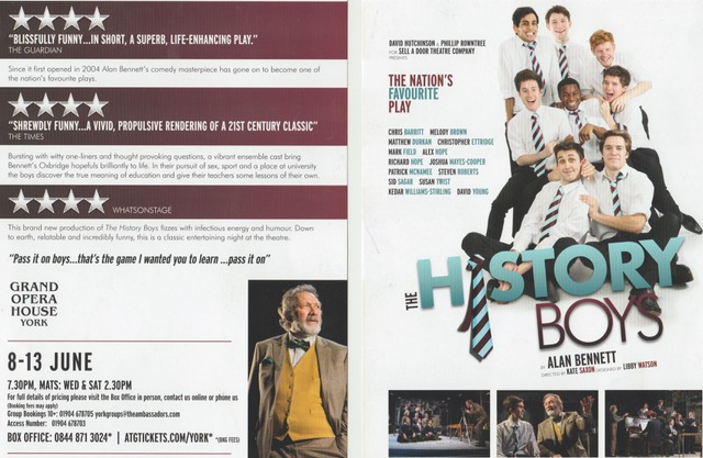 Theatre History Boys 2015